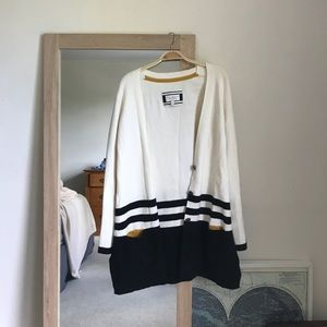 Anthropologie oversized sweater button down.
